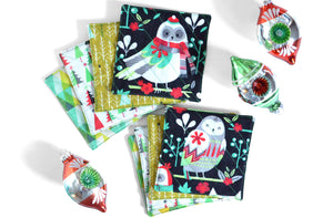 Christmas Owl Drink Coasters