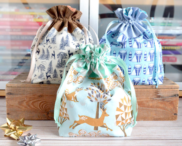 Woodland Fabric Gift Bags