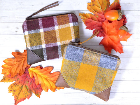 Yellow Flannel Plaid Coin Purse