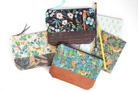 Tropical Cork Leather Pouch