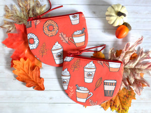 Pumpkin Spice Latte Coin Purse
