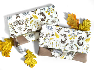 Yellow Botany Fold Over Clutch