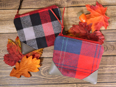 Red Flannel Plaid Coin Purse