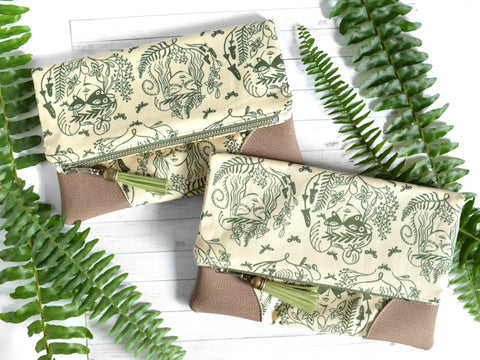 Fern Fairies Fold Over Clutch