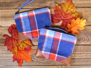 Blue & Red Flannel Plaid Coin Purse