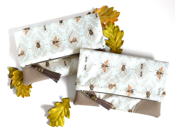 Insect Fold Over Clutch