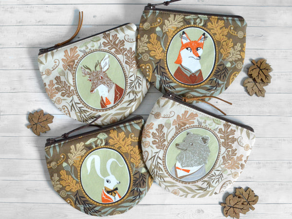 Woodland Animal Portraits Coin Purse