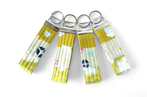 Yellow Mochi Patchwork Keychain