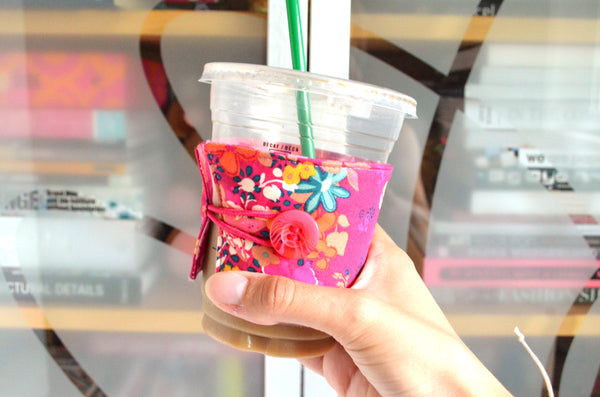Hot Pink Coffee Sleeve