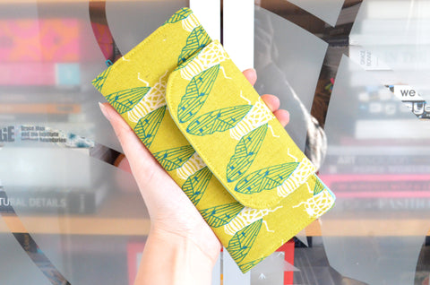 Green Cicada Song Wallet