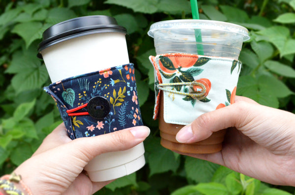 Rifle Paper Co Floral Coffee Sleeve