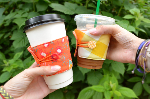 Yellow & Orange Coffee Sleeve