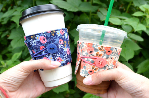 Rifle Paper Co Rosa Floral Coffee Sleeve
