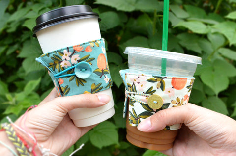 Rifle Paper Co Citrus Floral Coffee Sleeve