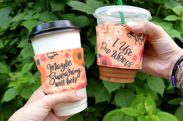"Orange ""Sweary"" Coffee Sleeve"