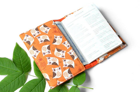 Orange Owl Passport Cover