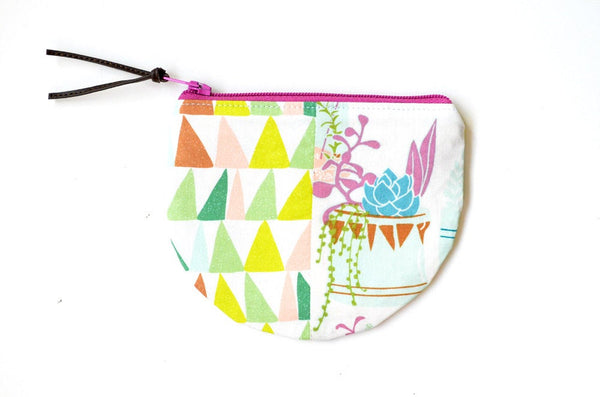 Cactus & Triangles Round Coin Purse