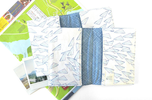 Paper Airplane Passport Cover