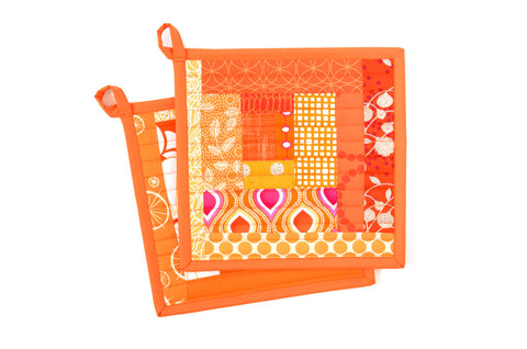Orange Pot Holders