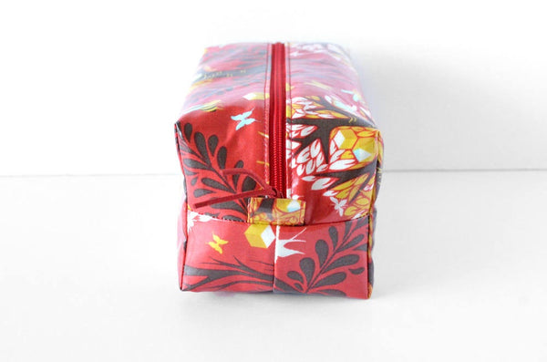Red Woodland Toiletry Bag