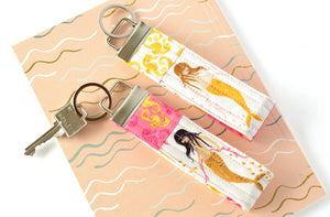 Pink Mermaid Keychain