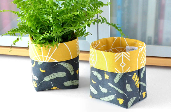 Banana Leaf Fabric Plant Pot