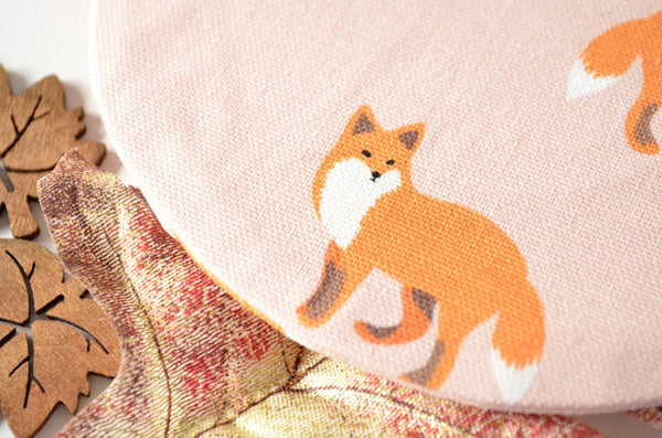 Pink Fox Round Coin Purse