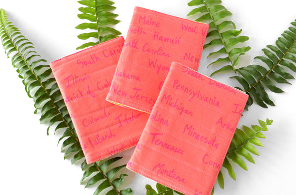 Pink USA Passport Cover