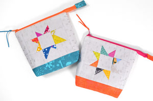Rainbow Patchwork Star Pouch