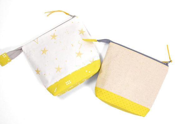 Yellow Patchwork Star Pouch