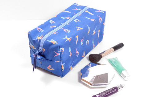 Blue Yoga Toiletry Bag