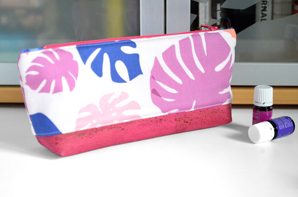 Pink Monstera Essential Oil Bag