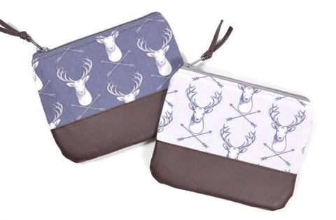 Grey Deer Coin Purse