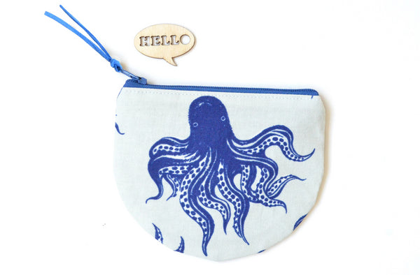 White Octopus Coin Purse