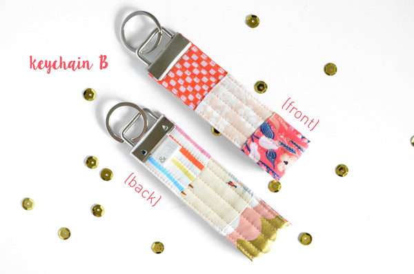 Pink Amalfi Rifle Paper Co Keychain