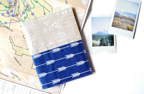 Blue & Grey Adventure Passport Cover