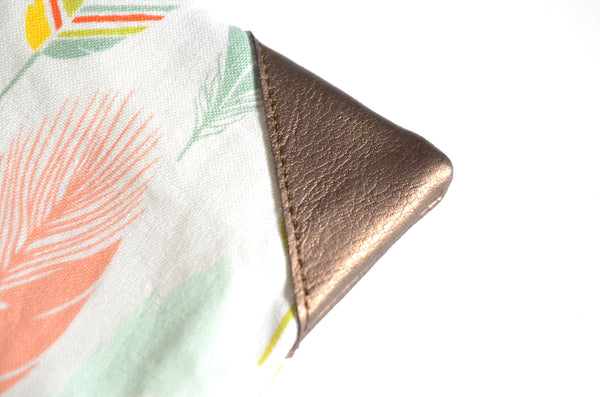 Pastel Feather Coin Purse