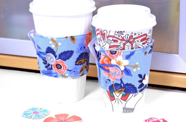 Periwinkle Rifle Paper Co Coffee Sleeve