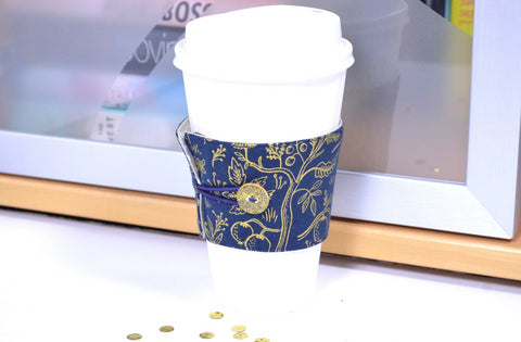 Gold Rifle Paper Co Coffee Sleeve