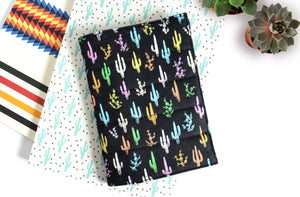 Black Cactus Passport Cover