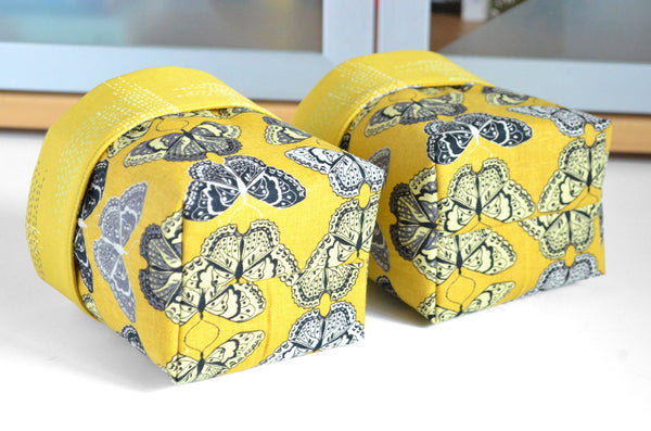 Yellow Butterfly Fabric Plant Pot