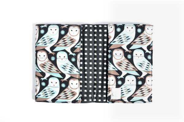 Black Owl Passport Cover