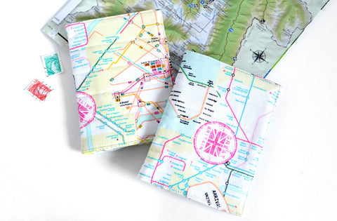 Rainbow Map Passport Cover