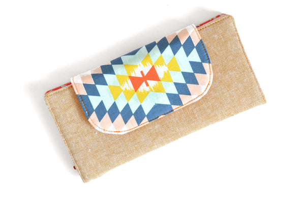 Gold Aztec Wallet