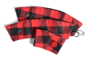 Red Plaid Coffee Sleeve