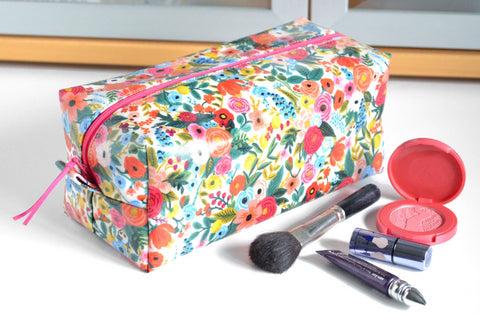 Pink Rifle Floral Toiletry Bag