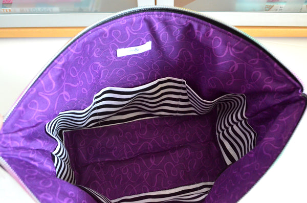 Purple De La Luna Jumbo Toiletry Bag