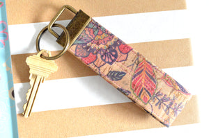 Magic Garden Cork Leather Keychain