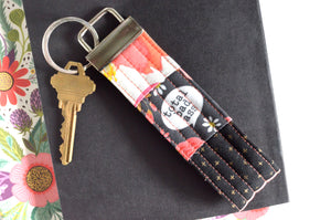 Black Sweary Patchwork Keychain