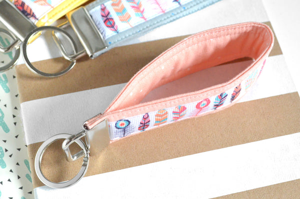 Feather Ribbon Keychain